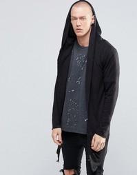 Удлиненная куртка с капюшоном Sixth June - Черный
