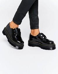 Туфли на платформе с лентами Dr Martens Holly - Черный лакированный