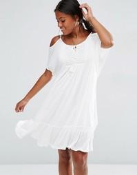 Ярусное платье на бретельках Vero Moda - Снежно-белый