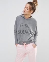 Укороченный джемпер Noisy May Girl Squad - Серый