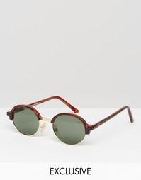 Солнцезащитные очки в круглой черепаховой оправе Reclaimed Vintage