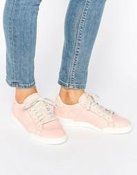 Однотонные розовые кожаные кроссовки Reebok Npc Ii - Розовый