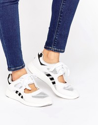 Белые открытые кроссовки на шнуровке adidas Originals - Белый