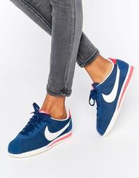 Синие кроссовки Nike Classic Cortez