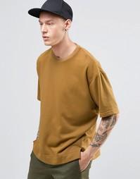 Прямая свободная футболка Sixth June - Кэмел