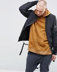 Куртка-пилот с отцепляемыми ремешками Sixth June - Черный