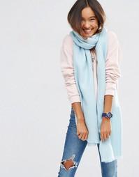 Длинный мягкий шарф ASOS - Синий