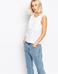 Рубашка без рукавов Selected Morgan - Снежно-белый