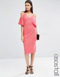 Платье-футляр с открытыми плечами ASOS TALL - Фуксия