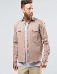 Розовая рубашка навыпуск в стиле милитари ASOS - Пыльно-розовый
