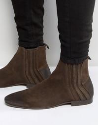 Замшевые ботинки челси Hudson London Larner - Коричневый