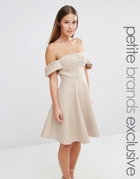 Пышное платье миди для выпускного True Decadence Petite - Caramac
