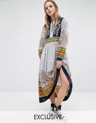Платье макси с принтом Reclaimed Vintage - Мульти