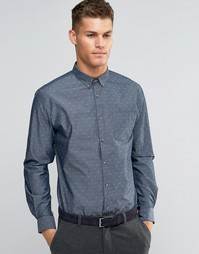 Узкая рубашка добби Silver Eight - Серый