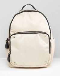 Нейлоновый рюкзак Yoki Fashion - Серо-коричневый