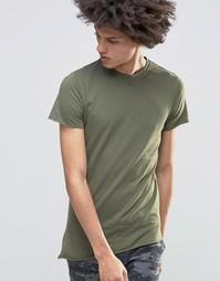 Облегающая асимметричная футболка Kubban Denim - Зеленый