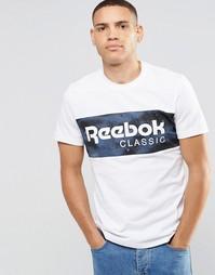Белая футболка с камуфляжным принтом Reebok AY1159 - Белый
