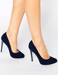Туфли-лодочки на платформе Faith Candy - Темно-синий мотив