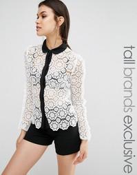 Кружевная рубашка с контрастной отделкой True Decadence Tall