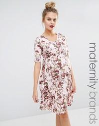 Платье с цветочным принтом и запахом для беременных и кормящих Bluebel Bluebelle Maternity