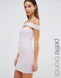 Облегающее платье с вырезом Missguided Petite - Фиолетовый