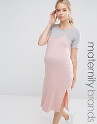 Платье-футболка 2 в 1 Bluebelle Maternity Nursing - Розовый