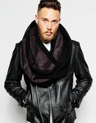 Черный шарф‑снуд из искусственной овечьей шерсти ASOS - Черный