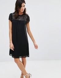Платье с кружевными вставками Pussycat London - Черный