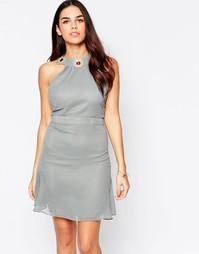 Платье мини VLabel Albany - Серый
