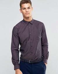 Узкая рубашка добби Sliver Eight - Красный