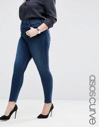 Зауженные выбеленные джинсы с завышенной талией ASOS CURVE Ridley