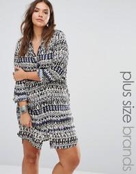 Платье-рубашка с принтом Diya Plus - Мульти