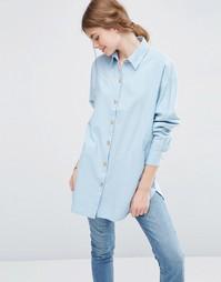 Мягкая саржевая oversize‑рубашка ASOS - Шамбре