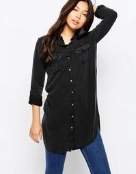 Удлиненная рубашка Noisy May - Черный