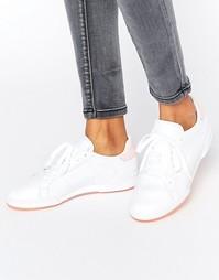 Кроссовки с розовой пяткой и подошвой Reebok Npc Ii - Розовый