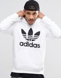 Худи с логотипом‑трилистником adidas Originals AY6474 - Белый