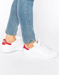 Бело-красные кроссовки adidas Originals - Белый
