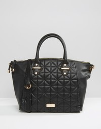 Стеганая сумка-тоут Lipsy - Черный