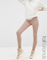 Облегающие джинсы с завышенной талией Missguided Tall - Телесный