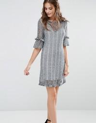 Трикотажное платье мини Stevie May River Side - Синий
