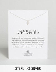 Серебряное ожерелье Dogeared Light as a Feather - Серебряный