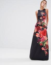 Платье без рукавов с цветочным принтом Ted Baker Marico - Черный