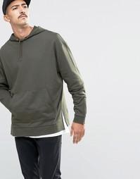 Oversize-худи с молниями на рукавах и разрезами по бокам ASOS