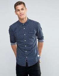 Рубашка с цветочным принтом Esprit - Темно-синий