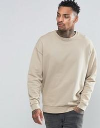 Бежевый oversize‑свитшот ASOS - Оксфордский светло-коричневый