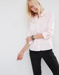 Розовая рубашка с рукавами 3/4 ASOS - Светло-розовый