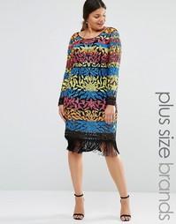 Платье мини с пайетками Lovedrobe Luxe - Мульти