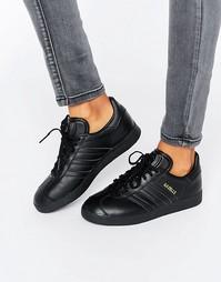 Черные кроссовки Adidas Originals Gazelle - Черная основа