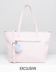 Розовая сумка-тоут с помпоном Skinnydip Exclusive - Розовый
