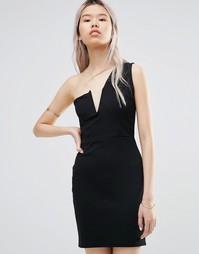 Платье на одно плечо Daisy Street - Черный